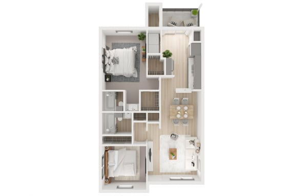 G Floor Plan at Toro Place Apartments, CLEAR Property Management, Texas, 77035