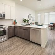 Fitted Kitchen With Island Dining at Clovis Point, Colorado