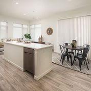 Wood Floor Dining Room at Clovis Point, Longmont, Colorado