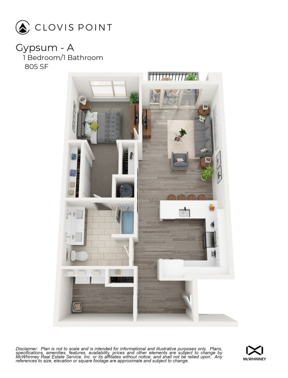 Gypsum Floor Plan at Clovis Point, Longmont, 80501