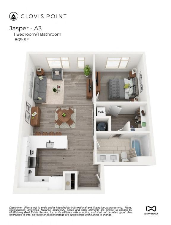 Floor Plan  Jasper Floor Plan at Clovis Point, Colorado, 80501