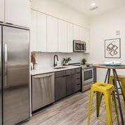 Modern Kitchen With Custom Cabinet at Clovis Point, Longmont, CO, 80501