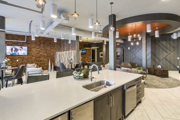 Community Kitchen at Colorado Springs Apartment Home Near Progressive Insurance