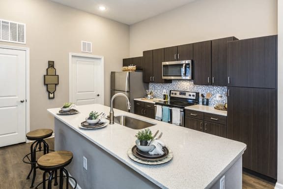 Colorado Springs Apartments near Denver with Luxury Kitchen Island