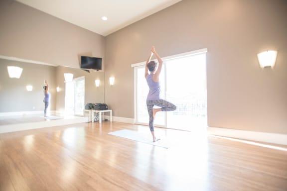 Yoga Room at Serenity at Larkspur, Larkspur, California