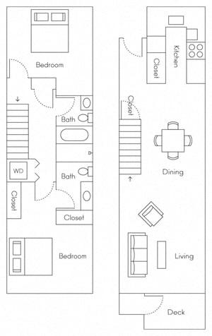 Floor Plan  Caspian Floor Plan at Larkspur, Larkspur, CA, 94939