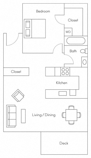 Sandpiper Floor Plan at Larkspur, Larkspur, CA