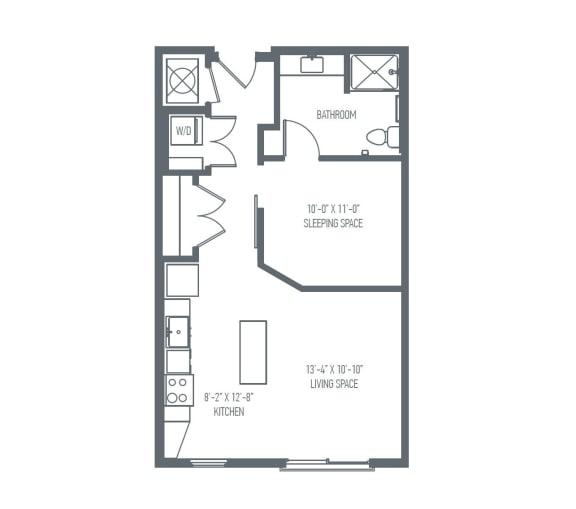 Floor Plan  A1 Floor Plan at Union Berkley, Missouri