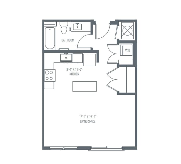 A2 Floor Plan at Union Berkley, Kansas City, MO, 64120