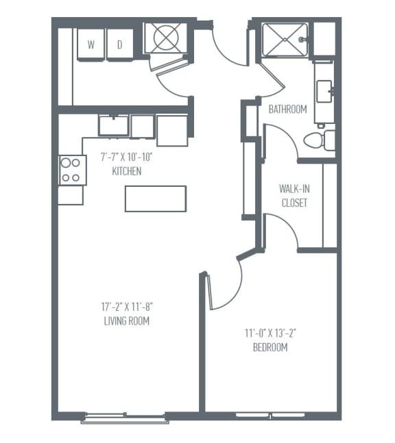 B1 Floor Plan at Union Berkley, Missouri, 64120
