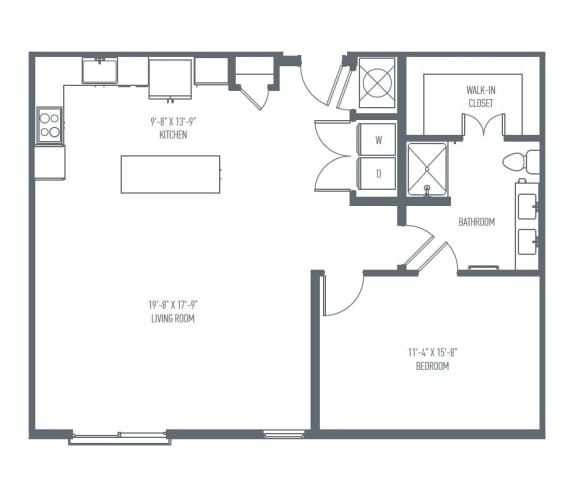 Floor Plan  B2 Floor Plan at Union Berkley, Kansas City, Missouri