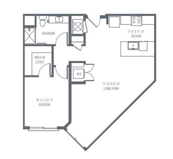 Floor Plan  B3 Floor Plan at Union Berkley, Kansas City, Missouri