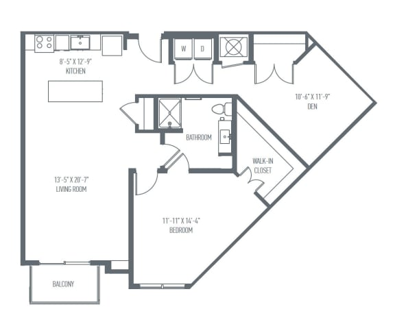 Floor Plan  C1 Floor Plan at Union Berkley, Kansas City