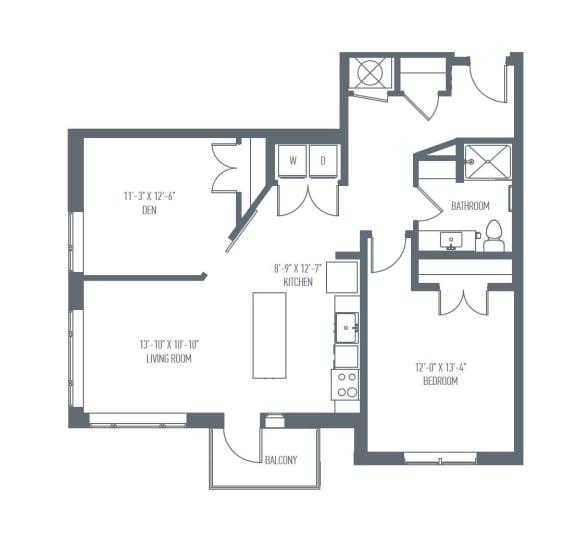 Floor Plan  C2 Floor Plan at Union Berkley, Kansas City
