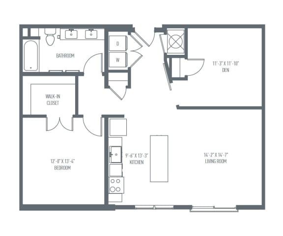 C3 Floor Plan at Union Berkley, Missouri, 64120