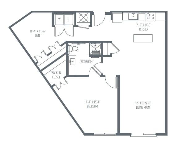 Floor Plan  C9 Floor Plan at Union Berkley, Kansas City, MO, 64120