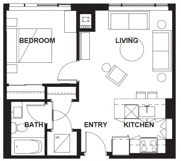 Floor Plan  E-X08 FloorPlan at VERSUS, Alberta, T2R 1A8