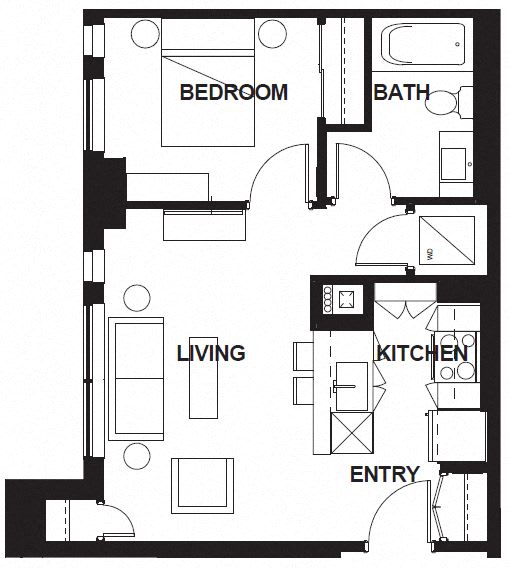 Floor Plan  E-X01 FloorPlan at VERSUS, Calgary, AB, T2R 1A8
