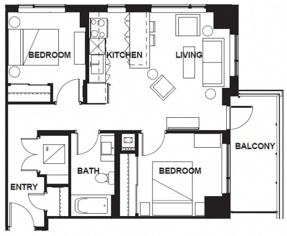 Floor Plan  E-303-E-X04 FloorPlan at VERSUS, Calgary, AB