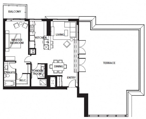Floor Plan  W-3406 FloorPlan at VERSUS, Calgary, Alberta