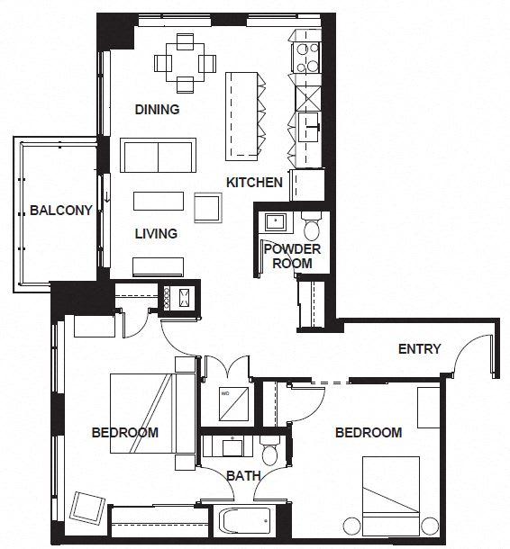 Floor Plan  W-3404 FloorPlan at VERSUS, Calgary, T2R 1A8
