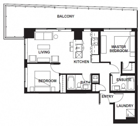 Floor Plan  W-3401 at VERSUS, Calgary, Alberta
