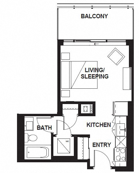 Floor Plan  W-303-WB-03-W-3402 FloorPlan at VERSUS, Calgary