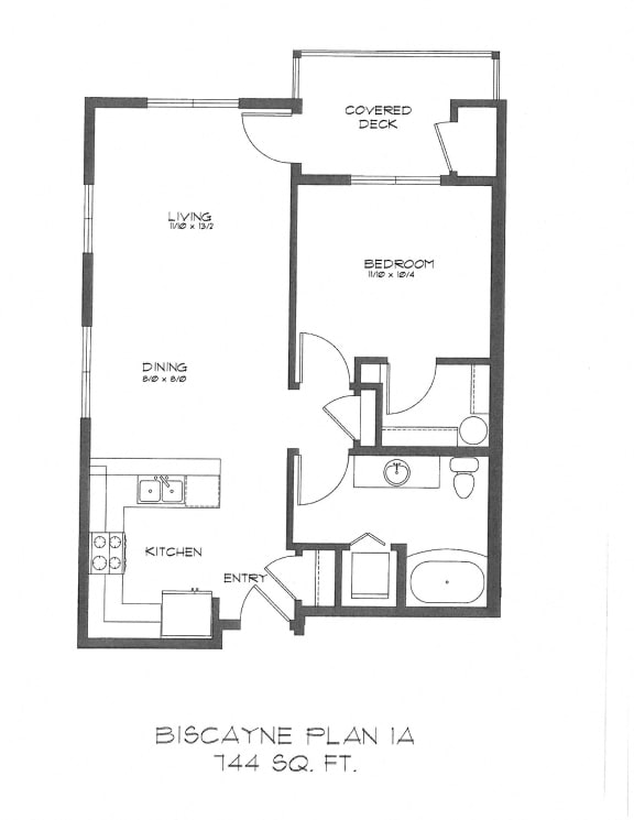 Floor Plan  One Bedroom at StonePointe, Washington, 98466