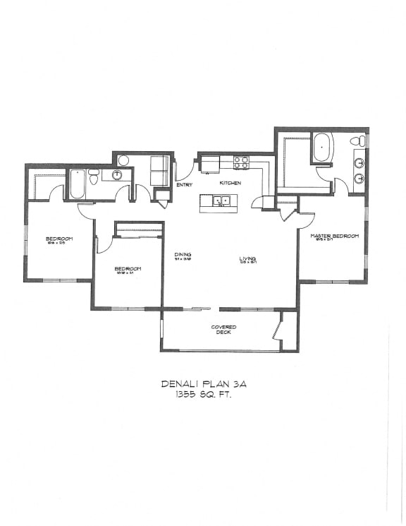 Three Bedroom at StonePointe, University Place, WA