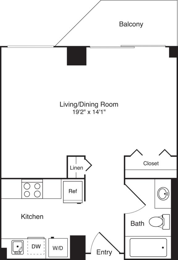 Floor Plan  Studio 479 SF S2