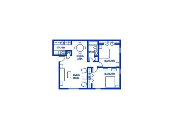 A2_750 Floor Plan| The Boulders