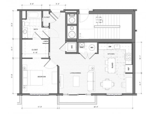 1Bedroom A Floor Plan| Merc