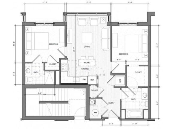 Floor Plan  2BR B Floor Plan| Merc