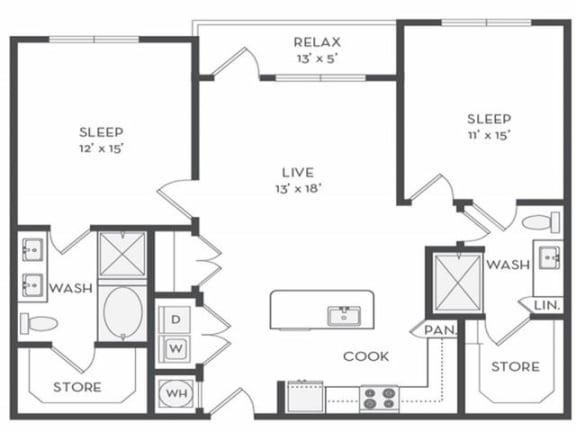 B3 Floor Plan |District of Rosemary