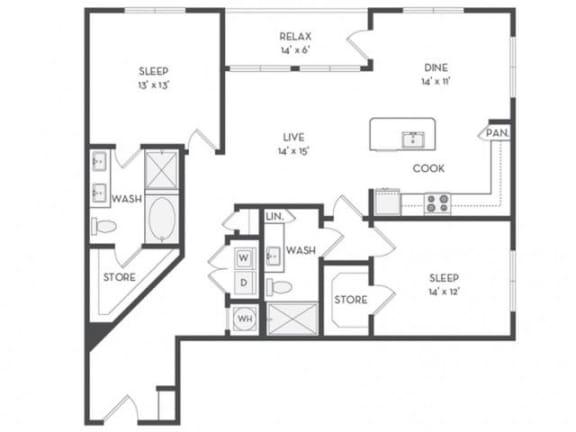 B9 Floor Plan |District of Rosemary