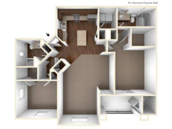 Floor Plan  2C Floor Plan| Villas at San Dorado