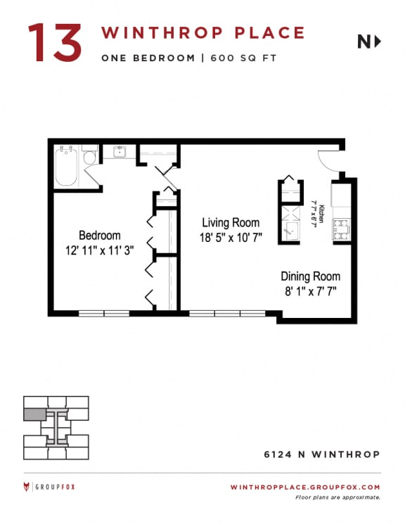 Winthrop Place - One Bedroom
