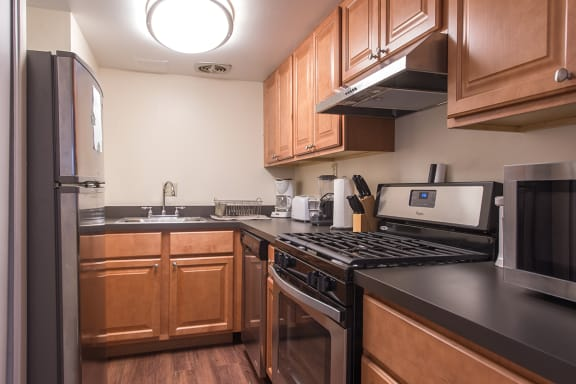 Kitchen, Walnut Towers at Frick Park, pet-friendly apartments in Pittsburgh, PA