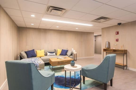 Lobby Lounge, Walnut Towers at Frick Park, pet-friendly apartments in Pittsburgh, PA