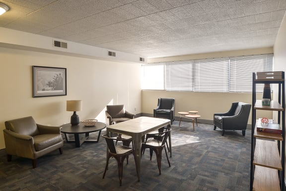 Social Room, Walnut Towers at Frick Park, pet-friendly apartments in Pittsburgh, PA
