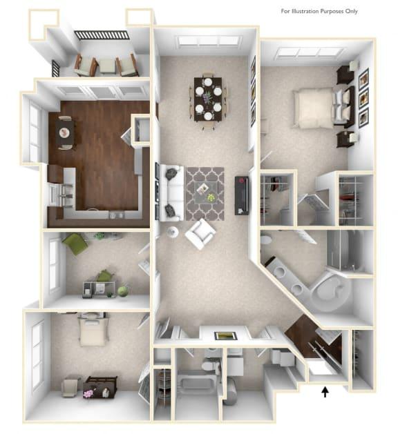 Floor Plan  The Charleston Floor Plan in 3D