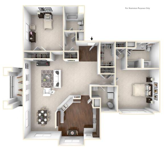 Floor Plan  The Fitzgerald Floor Plan in 3D
