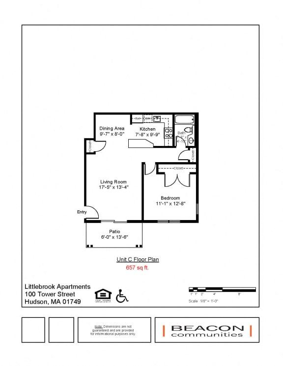 1 bedroom apartment Hudson, MA
