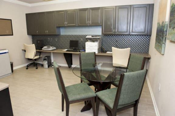 Business center at Sterling Magnolia, 3720 Wendwood Lane, Charlotte