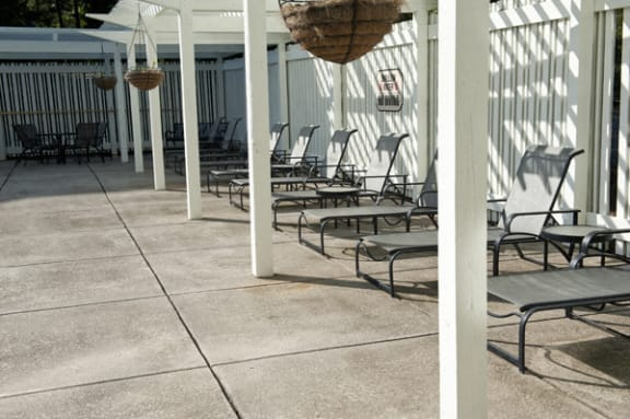Pool deck at Sterling Magnolia, 3720 Wendwood Lane, NC