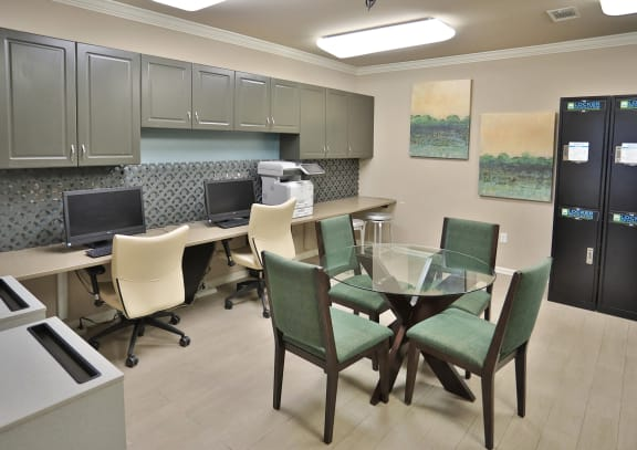 Business Center With Computers at Sterling Magnolia Apartments, Charlotte, 28211