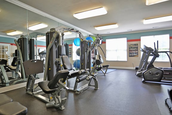 State Of The Art Fitness Center at Sterling Magnolia Apartments, Charlotte, NC, 28211