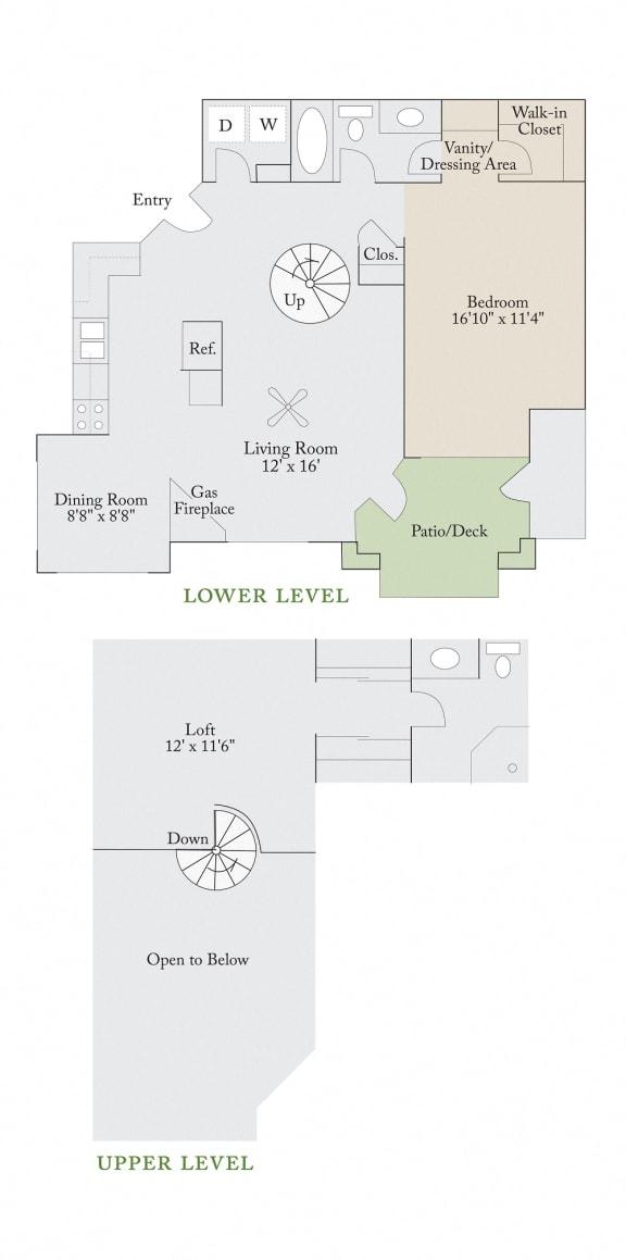 Floor plan at Cambridge Apartments, Raleigh, NC 27615