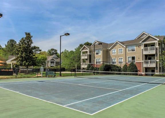 Lighted Tennis Court at Cambridge Apartments, North Carolina