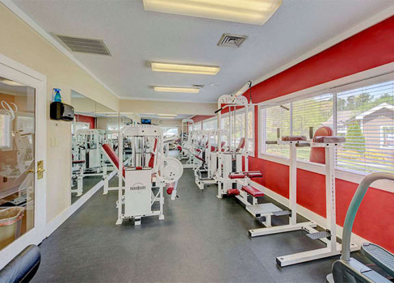 24 hour Fitness Center at Cambridge Apartments, Raleigh